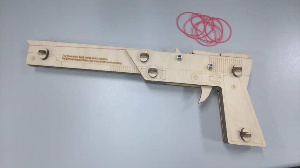 6連射できる輪ゴム鉄砲