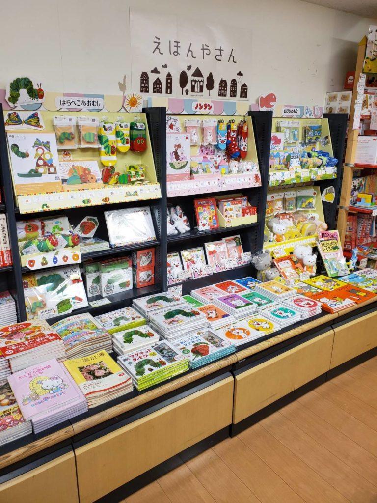 絵本のある児童書コーナーに、親子が思わず足を止めたくなるような、販促物を見せたりすることで販売効果も上がります!